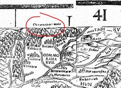 Fragment mapy Laziusza Des Khünigreichs Hungern