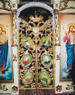 carskie wrota z cerkwi w Niżnych Repaszach (fot. A. Wielocha)